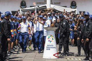 Torch Relay Asian Games 2018 di Bandung