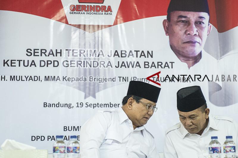 Sertijab Ketua DPD Gerindra Jabar