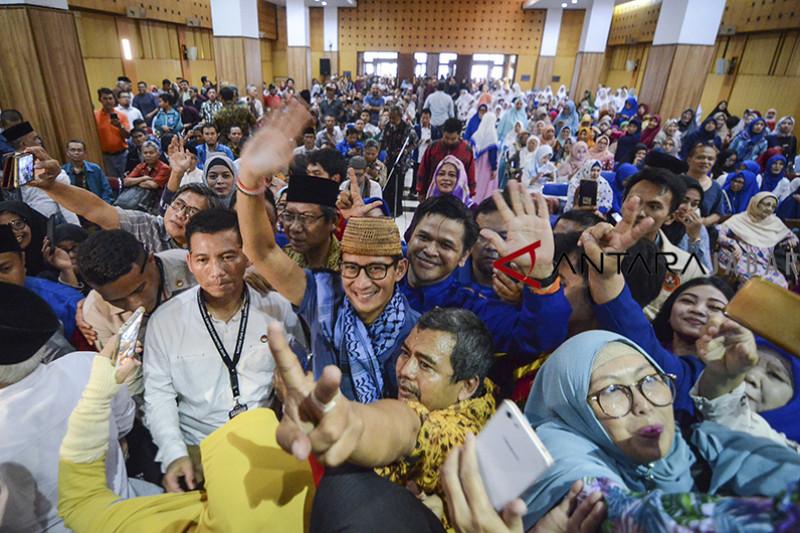 Kampanye Sandiaga Uno di Bandung