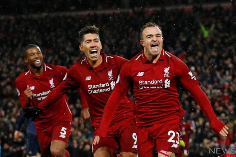 MU kalah dari Liverpool, Mourinho sebut 2 gol Shaqiri keberuntungan