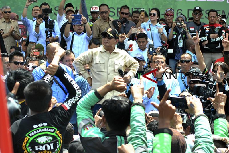 Prabowo hadiri kopdar ojol
