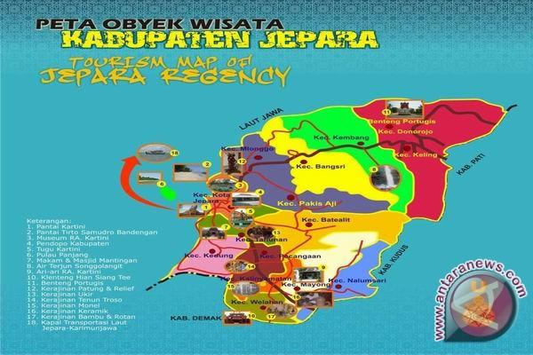 Peta Wisata Kabupaten Jepara (Foto kaskus.co.id)