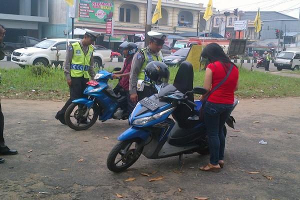Ini cara polisi Aceh Utara hadapi pelanggar lalu lintas