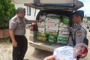 Polisi Amankan Bahan Pangan Ilegal dari Malaysia