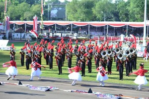 MBSI Pembuka Parade Seni-Budaya HUT ke-71 Kemerdekaan RI Di Istana Negara