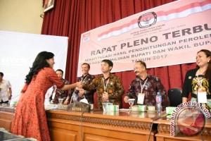 KPU Tetapkan Karolin-Heriadi Sebagai Pemenang Pilkada Landak