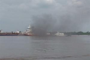 Polisi Selidiki Tabrakan KM Tanker di  Sungai Kapuas