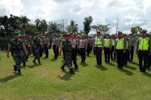 TNI dan Polri Mempawah Apel Kesiapan Paskah