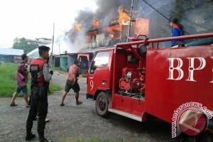 Kebakaran Landa Pasar Rangga Sentap Ketapang