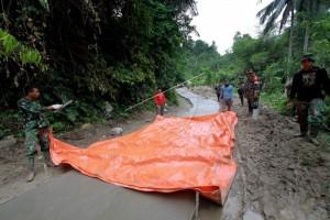 TNI-AD Buka Jalan di Perbatasan Indonesia-Timor Leste