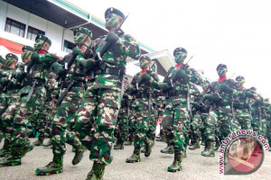 Ratusan Prajurit TNI Putussibau Naik Pangkat