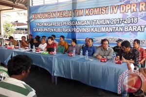 Komisi IV DPR Tinjau Nelayan Kubu Raya