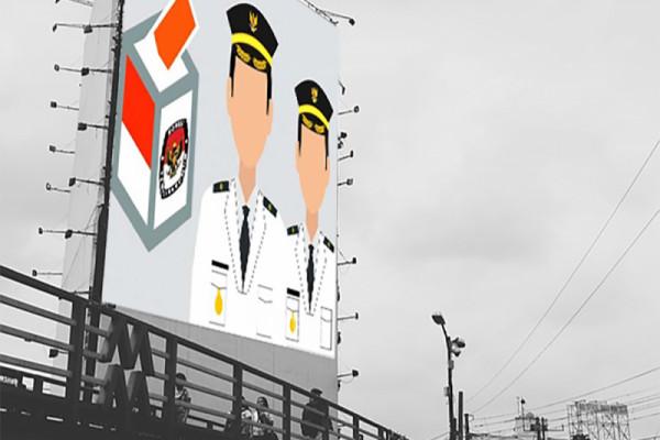 Alat peraga kampanye Pilkada Pontianak mulai dipasang 24 februari