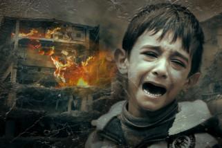 350 juta anak tinggal di daerah perang