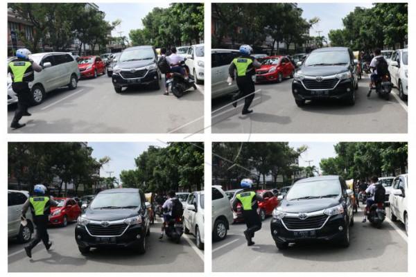 Mengejar pelanggar lalu lintas