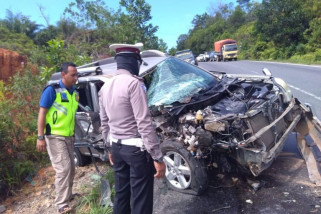 Kecelakaan hebat tewaskan satu warga di Trans Kalimantan