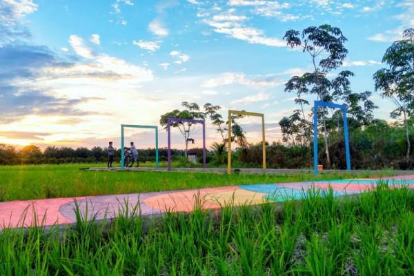 Pemuda Sambas ubah hamparan sawah jadi destinasi wisata kekinian