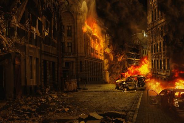 """""""Seperti kiamat"""" pusat perkotaan dihujani peluru kendali"""
