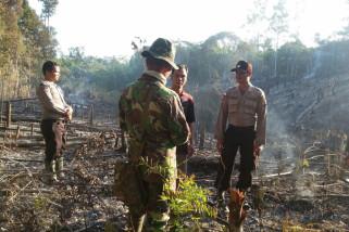Polisi dan TNI di Sintang siaga kebakaran hutan