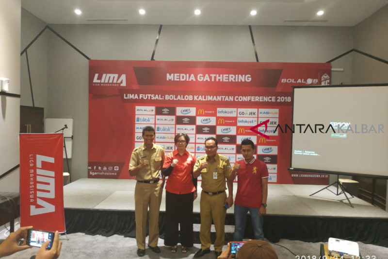Liga Mahasiswa gelar futsal Bolalob.com Kalimantan Conference 2018