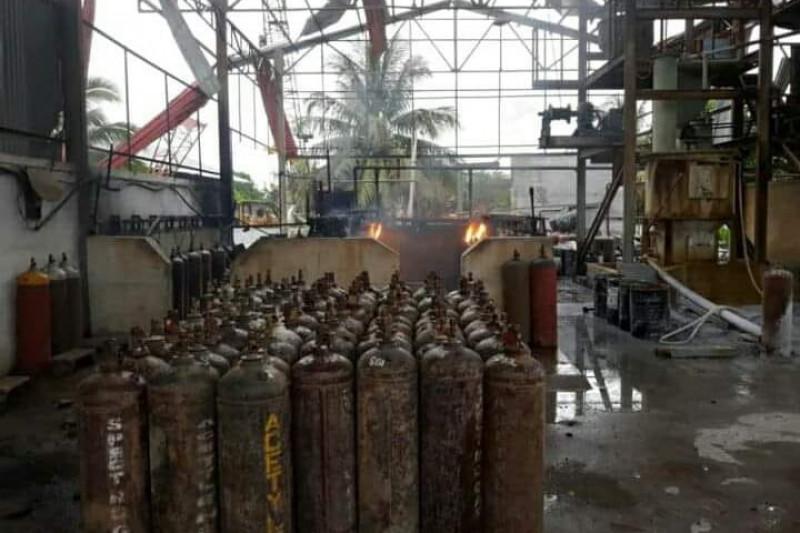 Polsek Pontianak Utara selidiki penyebab ledakan tabung gas karbit