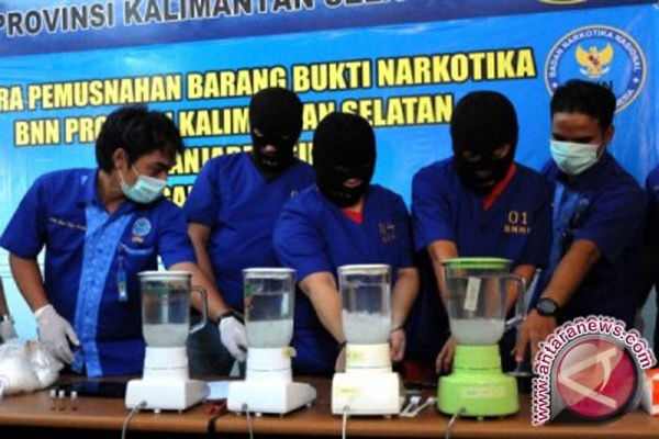 Banjar Police destroyed Rp2 billion narcotics