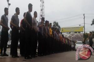 Polresta  Gelar Latihan Dalmas Hadapi Pilkada