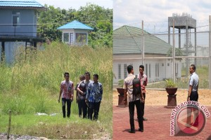 Kanwil Kemenkumham Kalsel Kunjungi Pembangunan Lapas