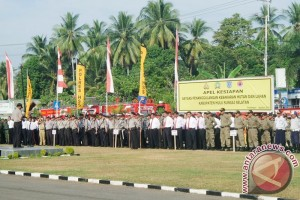 Sabhara Polres Banjarbaru Latihan Penanganan Kebakaran Hutan