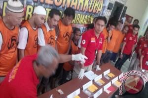 Polresta Banjarmasin Musnahkan 81 Paket Sabu-Sabu