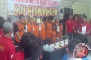 Polresta Banjarmasin Tangkap 14 Pelaku Narkotika