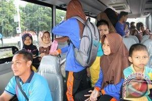 Bus Mapolres Balangan Dioperasikan Jadi Angkutan Pelajar