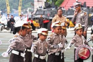 Polisi Kenalkan Aturan Lalu Lintas Sejak Dini