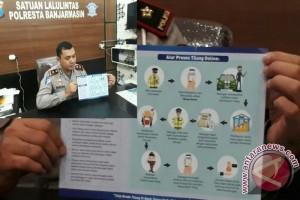 Polresta Banjarmasin Berlakukan E-tilang
