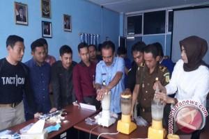 BNNP Kalsel Musnahkan Sabu-Sabu Senilai Miliaran Rupiah