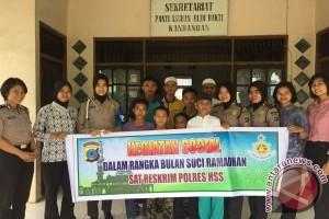 Giat Ramadhan Polres HSS Kunjungi Panti Asuhan