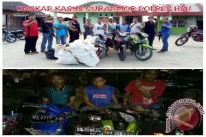 Polisi Ciduk Gembong Curanmor Di Kabupaten HSU