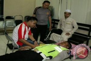 Polres HSS Donor Darah Peringati HUT Bhayangkari Ke-71