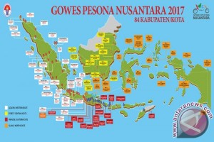 Banjarmasin Tuan Rumah Gowes Pesona Nusantara