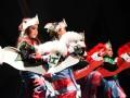 Beberapa penari cilik menarikan Tarian Kuda Gepang yang menjadikan rangkaian penampilan Karaminan Banua 2017 di Balairungsari Taman Budaya Kalsel, Jumat (11/8). Foto Antaranews Kalsel/Herry Murdy Hermawan