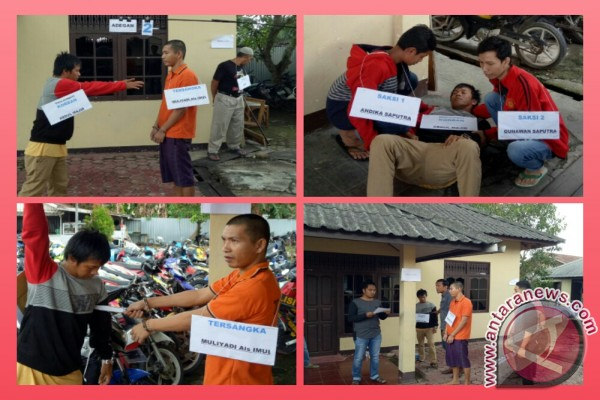 Polisi Gelar Rekonstruksi Pembunuhan Di Pasar Lama