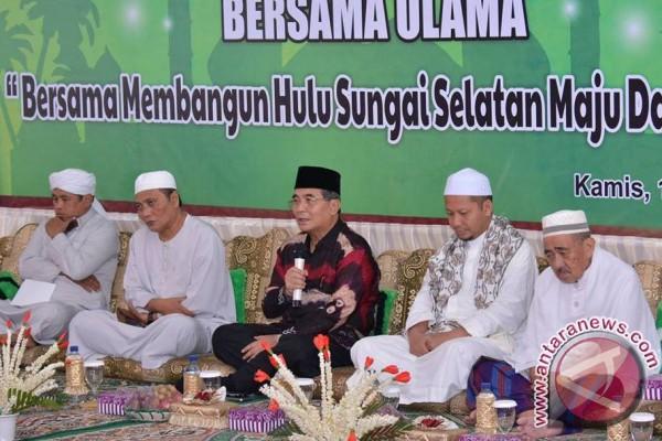 Halal Bihalal Eratkan Silaturrahmi Ulama dan Pemimpin HSS