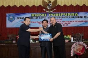 Wabup HSS Sampaikan Raperda Perubahan APBD 2017
