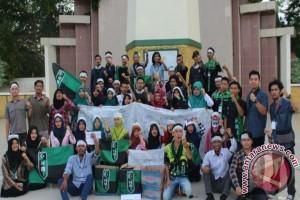 HMI Kandangan Gelar Aksi Kepedulian Muslim Palestina