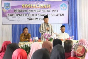 Disdik HSS Sosialisasikan Program Indonesia Pintar