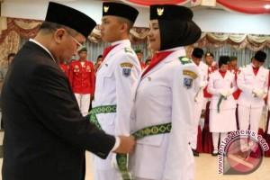 Bupati HSS Kukuhkan Paskibraka Tahun 2017