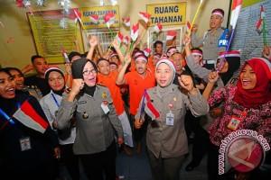 Polsekta Banjarmasin Timur Ajak Tahanan Bergembira Di Hari Kemerdekaan