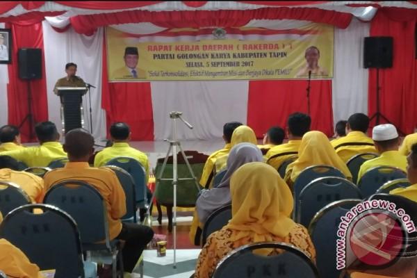 DPD Partai Golkar Tapin Siap Menangkap Arifin-Syafruddin Noor