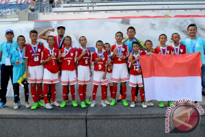 Skuad Garuda Muda Indonesia Pada Aqua Danone Nations Cup 2017
