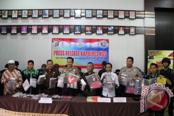 Pelaku Operasi Antik Intan Polres HSS Tangkap 13 Tersangka